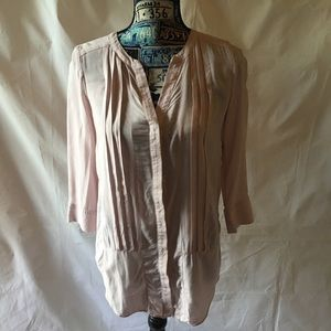 MaEve for ANTHROPOLOGIE pale pink blouse SIZE 0